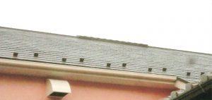 コロニアル屋根・サーモアイsi(遮熱塗料)塗装。 2階が熱いので、換気棟を新設