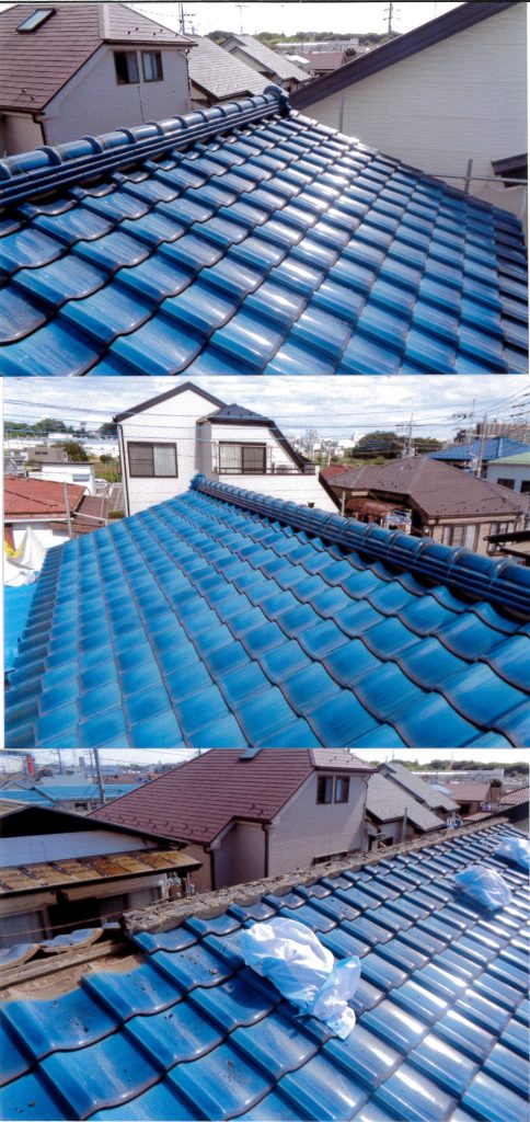 老朽化した屋根を剥がします